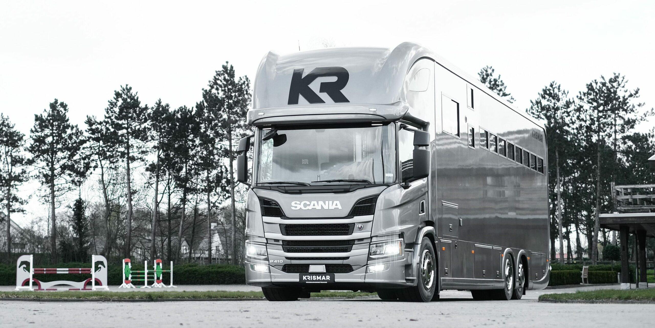 Krismar horsetruck professional paardenvrachtwagen in grijze kleur